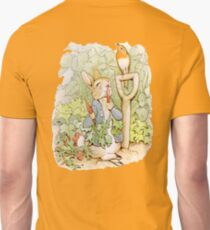 Nursery Characters, Peter Rabbit eating radishes, The Tale of Peter Rabbit Unisex T-Shirt