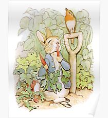 PETER RABBIT, Nursery Characters, Peter Rabbit, eating radishes, The Tale of Peter Rabbit Poster