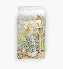PETER RABBIT, Nursery Characters, Peter Rabbit, eating radishes, The Tale of Peter Rabbit Duvet Cover