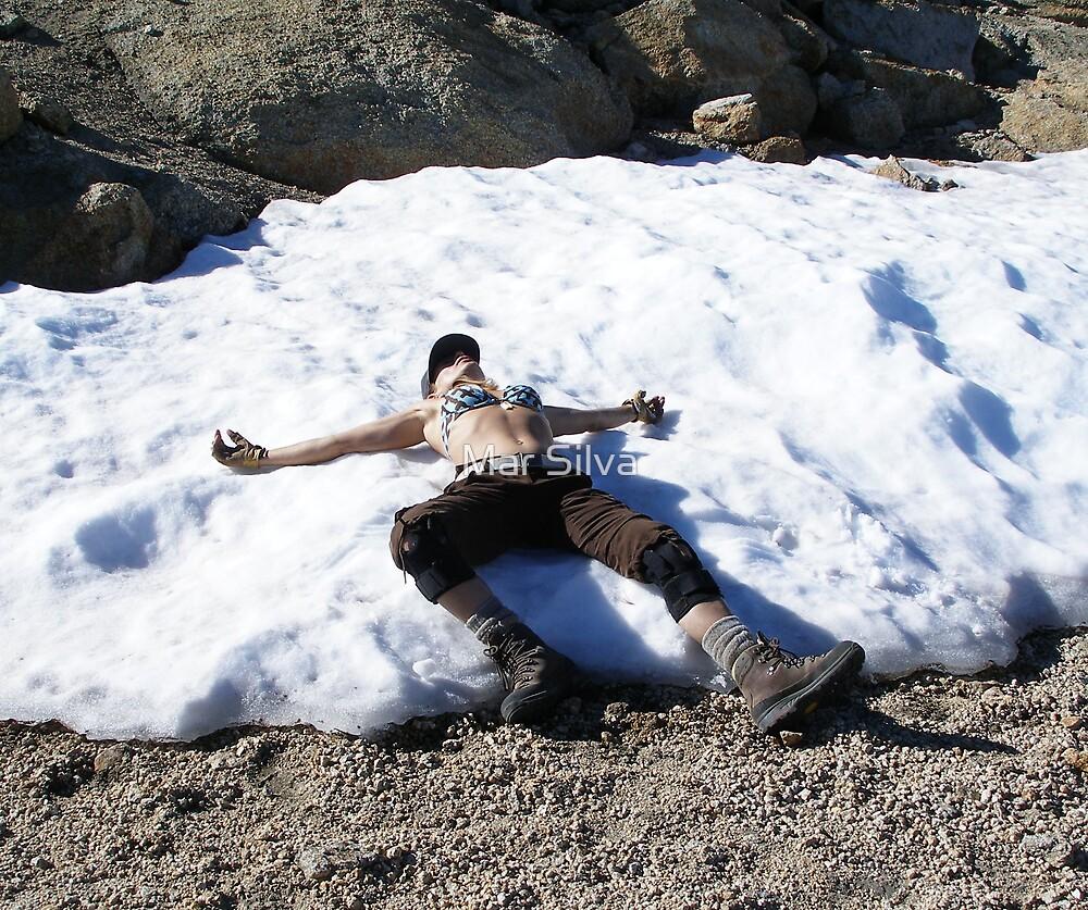 Mount Hoffman snow angel by Mar Silva