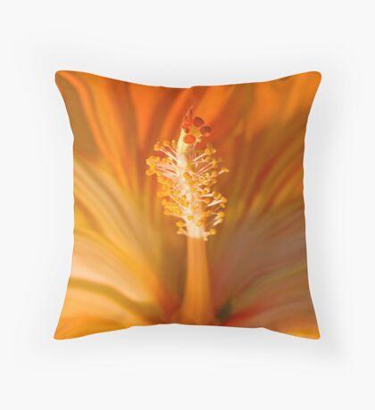 Flaming Hibiscus Throw Pillow
