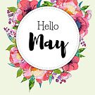 Hello May - monthly cover for planners, bullet journals by vasylissa