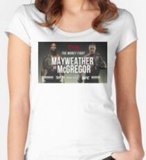 Floyd Mayweather Vs Conor McGregor #MayweatherMcGregor #McGregorMayweather Women's Fitted Scoop T-Shirt