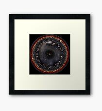 Observable Universe Logarithmic Illustration (black background) Framed Print