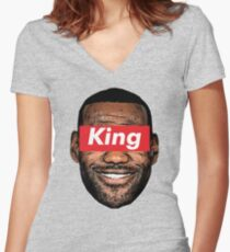 king Women's Fitted V-Neck T-Shirt