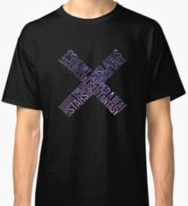 The XX - xx album // Track Names with space background Classic T-Shirt