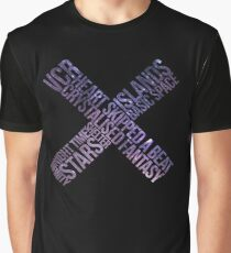 The XX - xx album // Track Names with space background Graphic T-Shirt