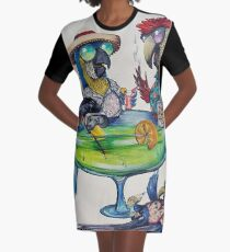 Welcome to Parrotise Graphic T-Shirt Dress