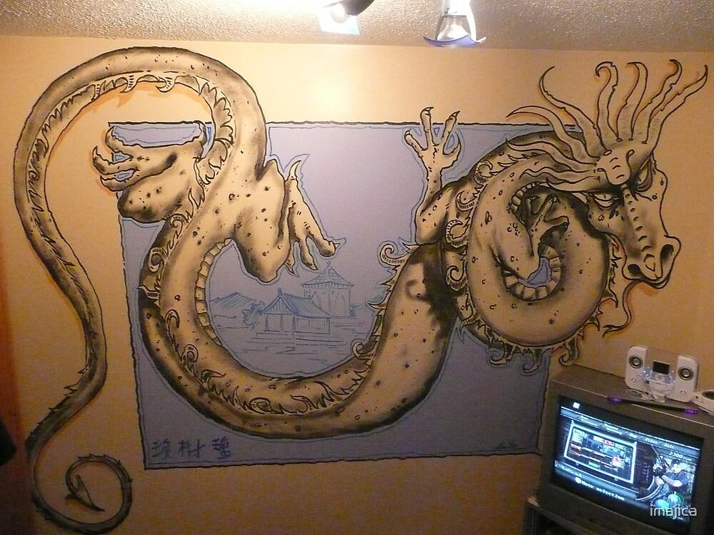 chinese dragon wall mural by imajica