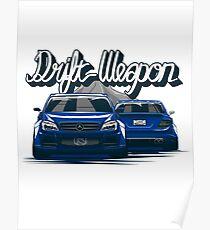 Mercedes Amg 63 Drift Weapon (BLUE) Poster