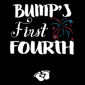 Bump's First Fourth For Pregnant Lady Wear It On Independence Day Will End Soon T-shirts by lydiahproctor