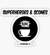 Superheroes and Scones Sticker