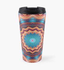Blue Feather Mandala Travel Mug