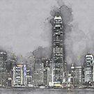 Hong Kong at Night by mrthink