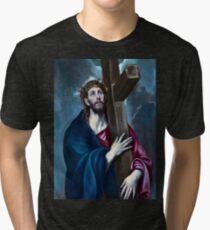 El Greco Christ Carrying the Cross Tri-blend T-Shirt