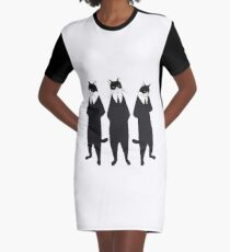 Tuxedo cats Graphic T-Shirt Dress