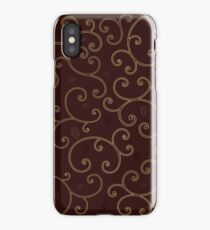 coffee background with swirl line iPhone Case/Skin