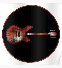 Tiled Pixel 360 12-String Guitar Poster