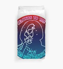 Man Belongs To The Earth Duvet Cover