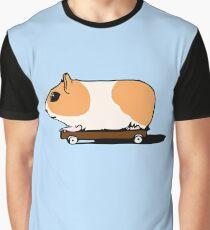 Guinea Pig on Skate Graphic T-Shirt