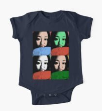 BEAUTIFUL FUNNY ASIAN GIRL POP ART COLOR Kids Clothes