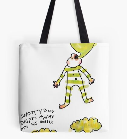 'Snotty Boy Bubbles' Tote Bag