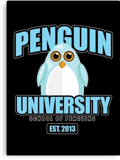 Penguin University - Blue 2 by Adam Santana