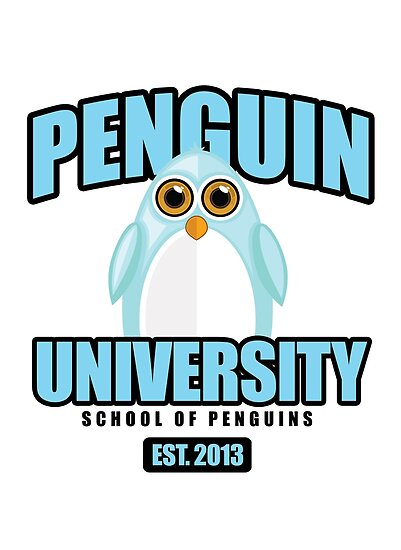 Penguin University - Blue by Adam Santana