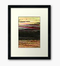 LOST SUMMER - Glitch Art Iphone Case Framed Print