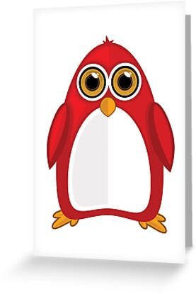Red Penguin by Adam Santana