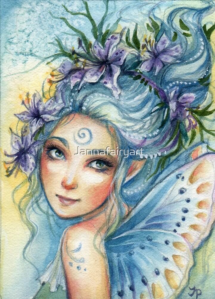 Lily Blue by Jannafairyart