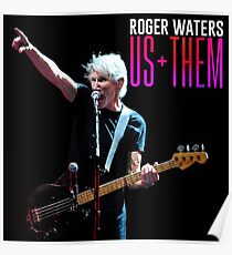 roger water new black color us them Poster