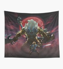Zelda - Gold Lynel - Blood Moon Wall Tapestry