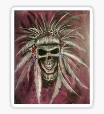 Skull Chief by Ed Capeau Sticker