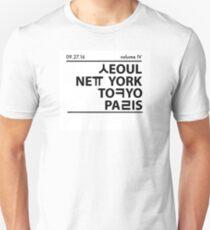 Seoul, New York, Tokyo, and Paris Unisex T-Shirt