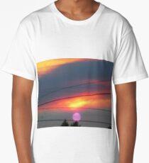 purple sun Long T-Shirt