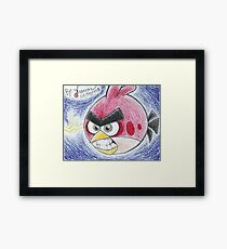 Angry Red Framed Print