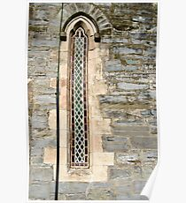 Narrow Window, Old Church, Griannan. Donegal, Ireland Poster