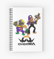 OverWA - Wario and Waluigi Overwatch Tee Spiral Notebook