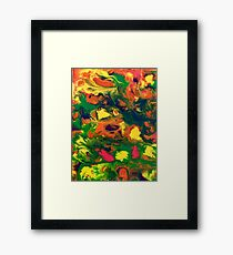 Number 8 flowers Framed Print