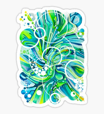 Dynamic Ever-Present Pull - Watercolor Painting Sticker