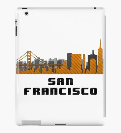 Golden Gate Bridge San Francisco California Skyline Created With Lego Like Blocks iPad Case/Skin