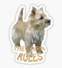 Cairn terrier rules Sticker