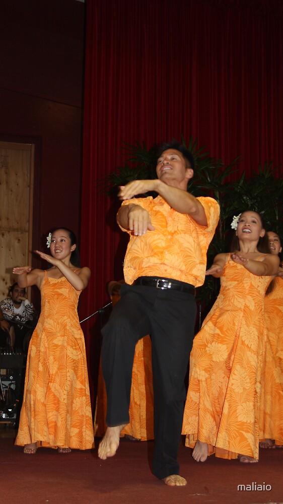 Kumu Hula enjoying a chance to dance again by maliaio