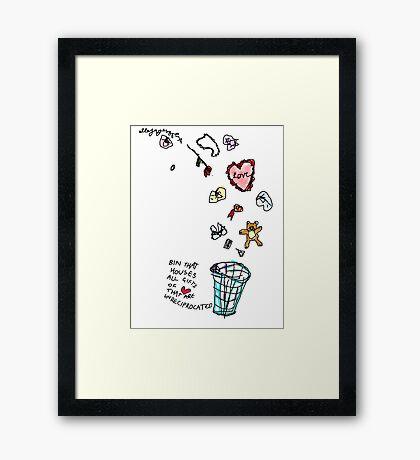 Unreciprocated Love Bin Framed Print
