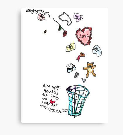 Unreciprocated Love Bin Metal Print