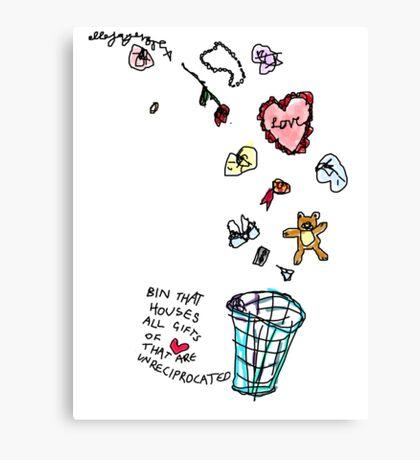 Unreciprocated Love Bin Canvas Print