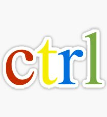 ctrl rainbow Sticker