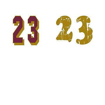 23>23 T Shirt by Bloodaxe