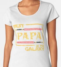 Father's Day Gift Best Papa in Galaxy Women's Premium T-Shirt